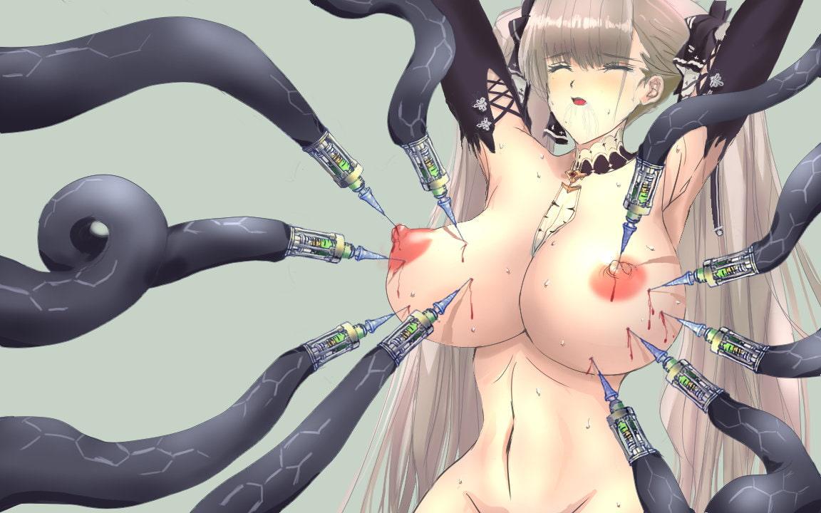 アズール○ーンのKANーSENが触手に超乳化されたりニプルファックされたりするCG集 [田中よしたろう]
