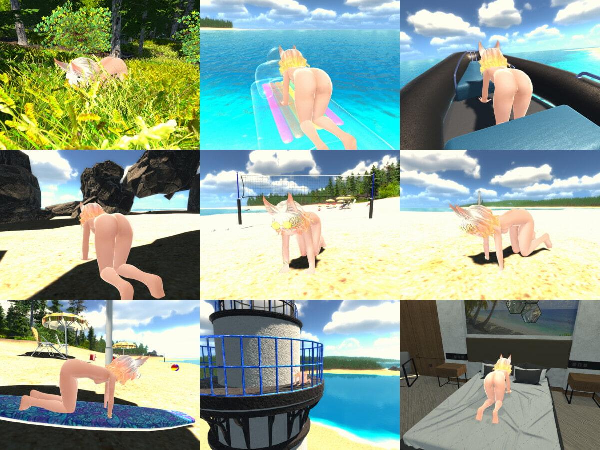リュージュちゃんと海辺でえっち!3D [すやすや番茶]