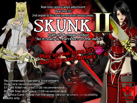 Real-time 3D total violation fantasy SKUNK2 Half-elf & mage edition (English translated version)!