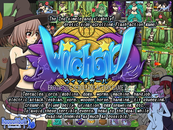 WITCH GIRL -EROTIC SIDE SCROLLING ACTION GAME 2-!
