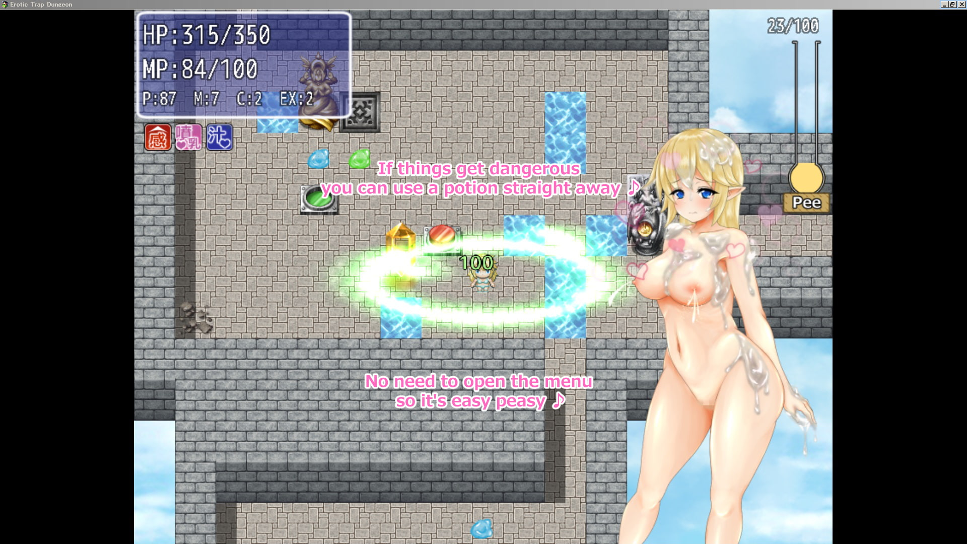 Erotic Trap Dungeon [I can not win the girl]