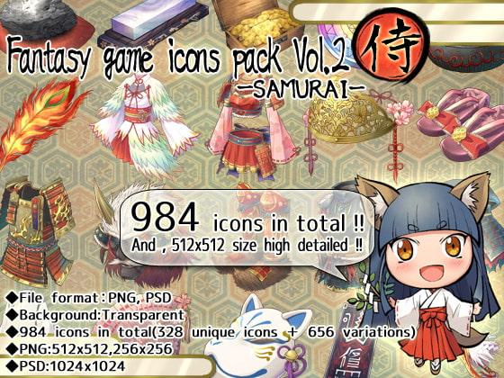 Fantasy game icons pack Vol.2-SAMURAI-!