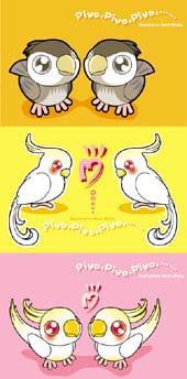 RJ001275 img main 「piyo★piyo★piyo…」小鳥イラスト(葉書サイズCG3種)