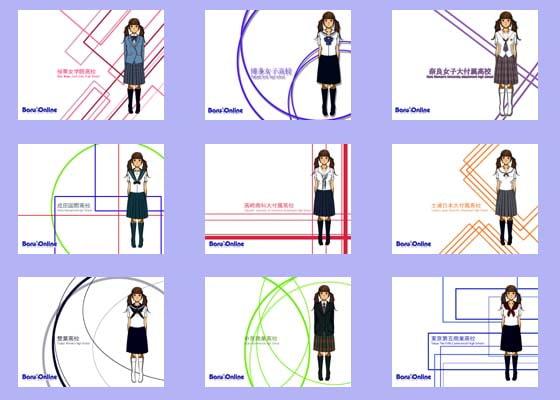 RJ019253 img main 全国高校・中学制服制服シリーズ壁紙 10枚組み