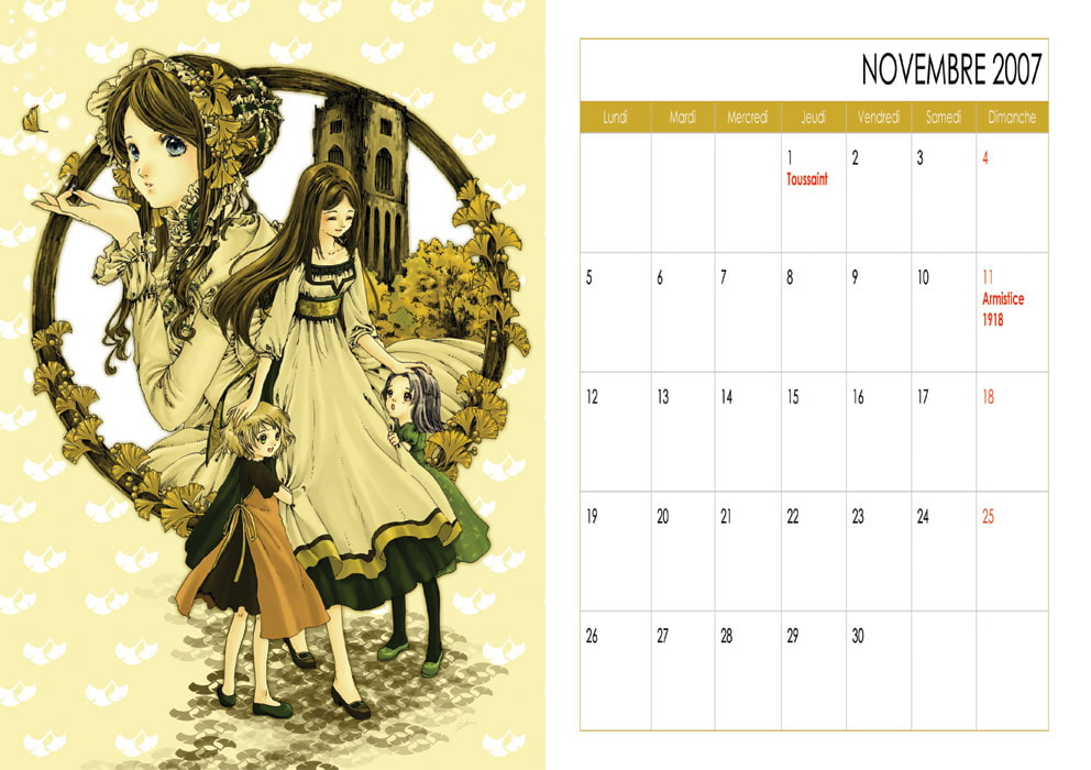 Gensou-do Calender C - French version   (2007.1-2007.12) [Enchantement]