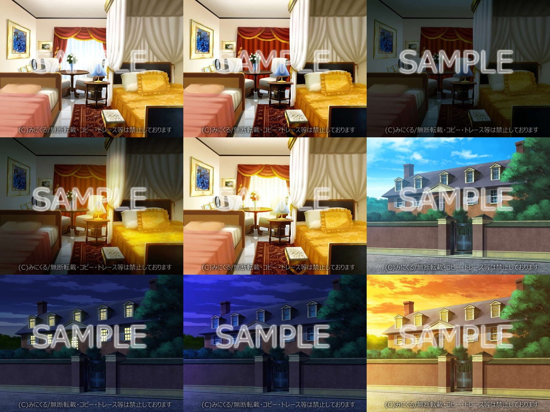 "Minikle's Background CG Material Collection ""Mansion"" part02 [minikle]"