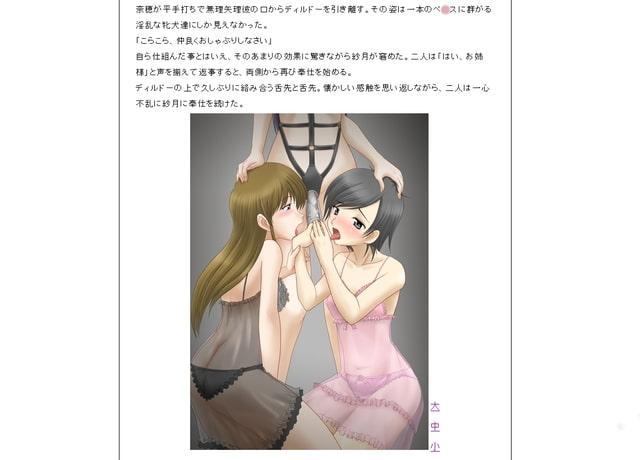 破鏡の嘆き〜寝取られ夫の女性化レズ調教〜サンプル2