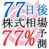 77日後の株式相場を77%予測してみた(2011/9/16日号) [77日77%予測]