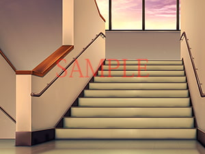 Copyright Free Materials - School Stairwell [QQQnoQnoQ]