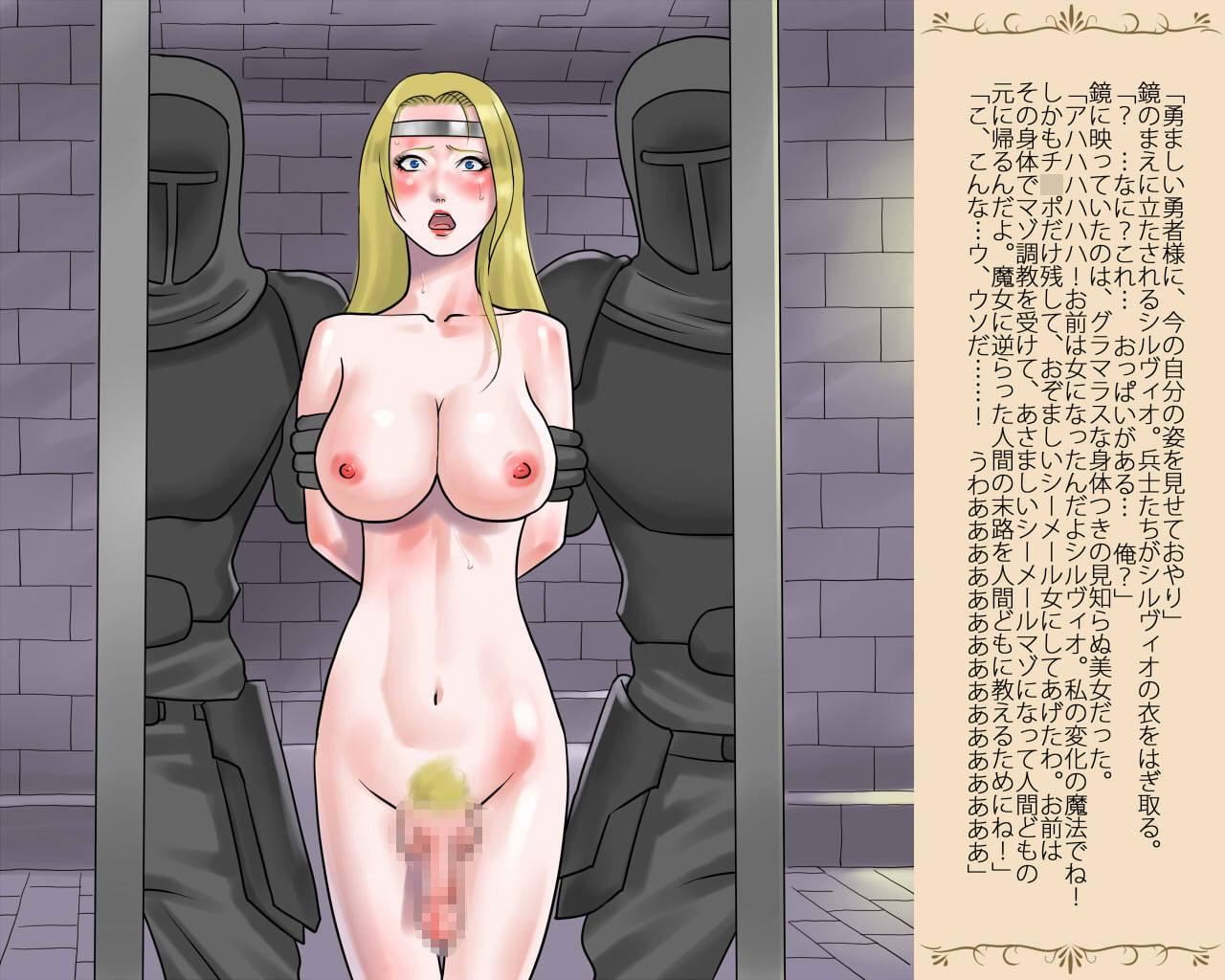 女体化された勇者様・恥辱の変態射精奴隷サンプル1