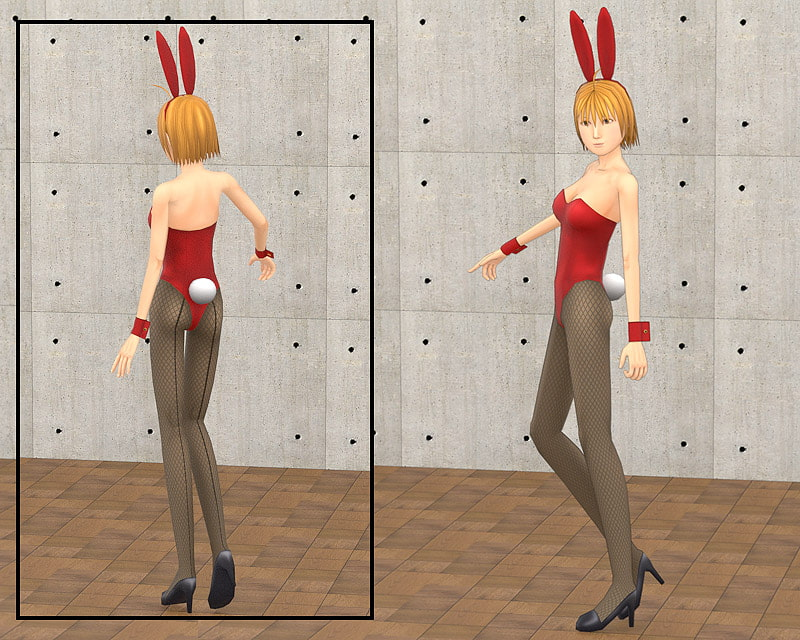 "Original Character Design 3DCG Modeling Data ""Bunny Girl"" REAL [Counter YY]"