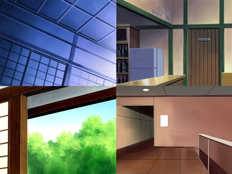 Scenery Materials - High Quality Interiors [72 Interior Backgrounds]  [Cat Soup Kitchen]