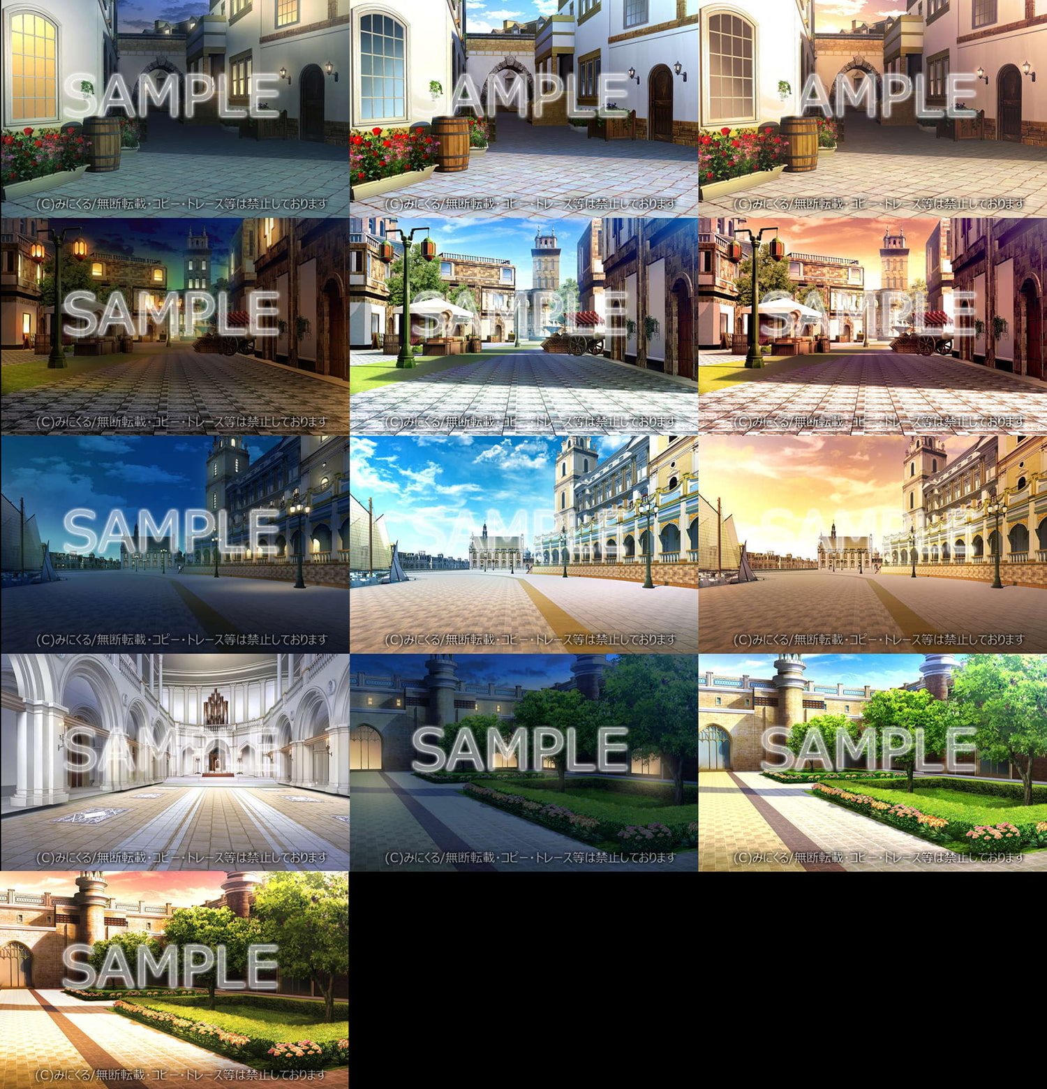 "Minikle's Background CG Material Collection ""Fantasy"" part01 [minikle]"