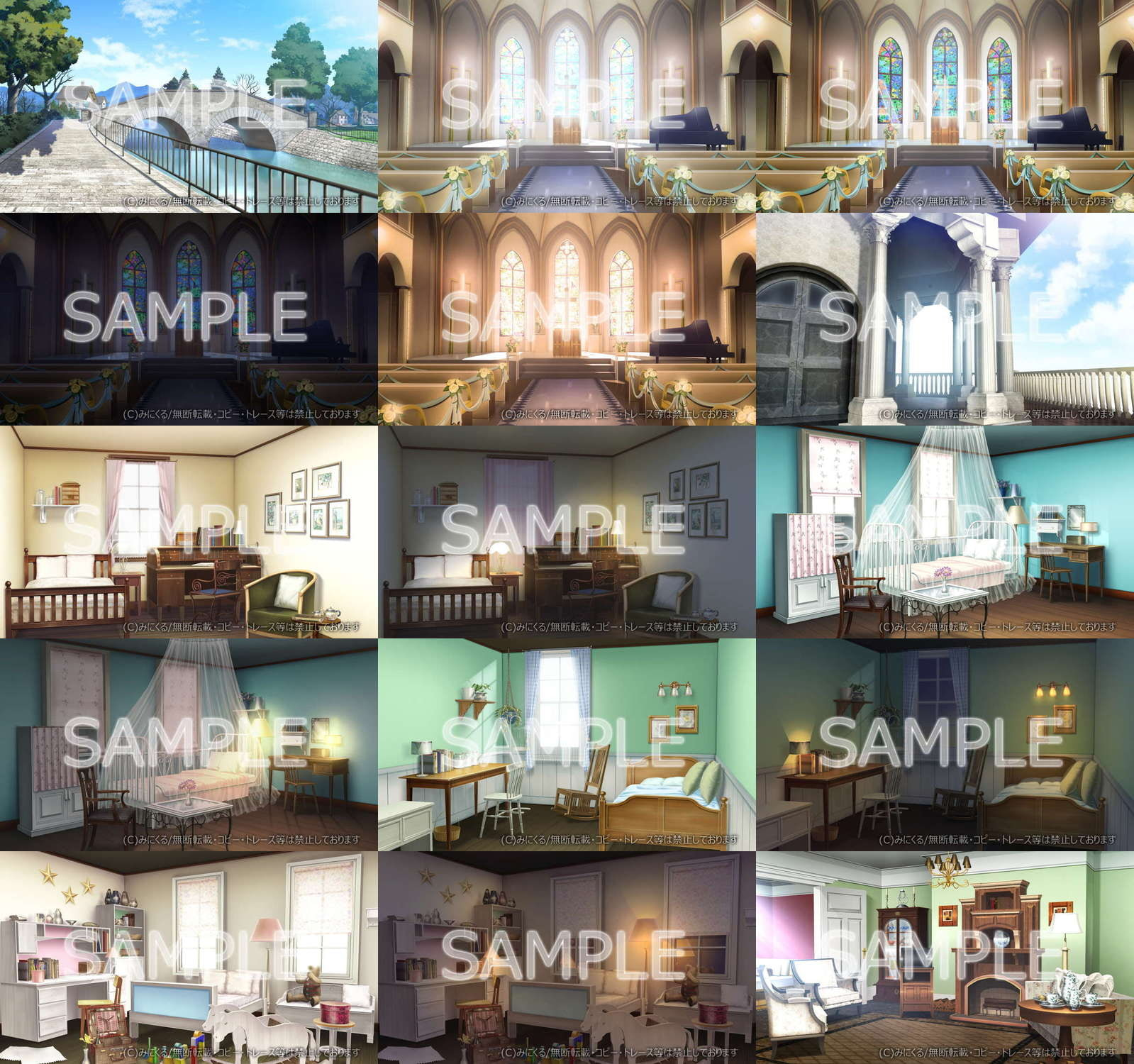 "Minikle's Background CG Material Collection ""Antique"" part01 [minikle]"