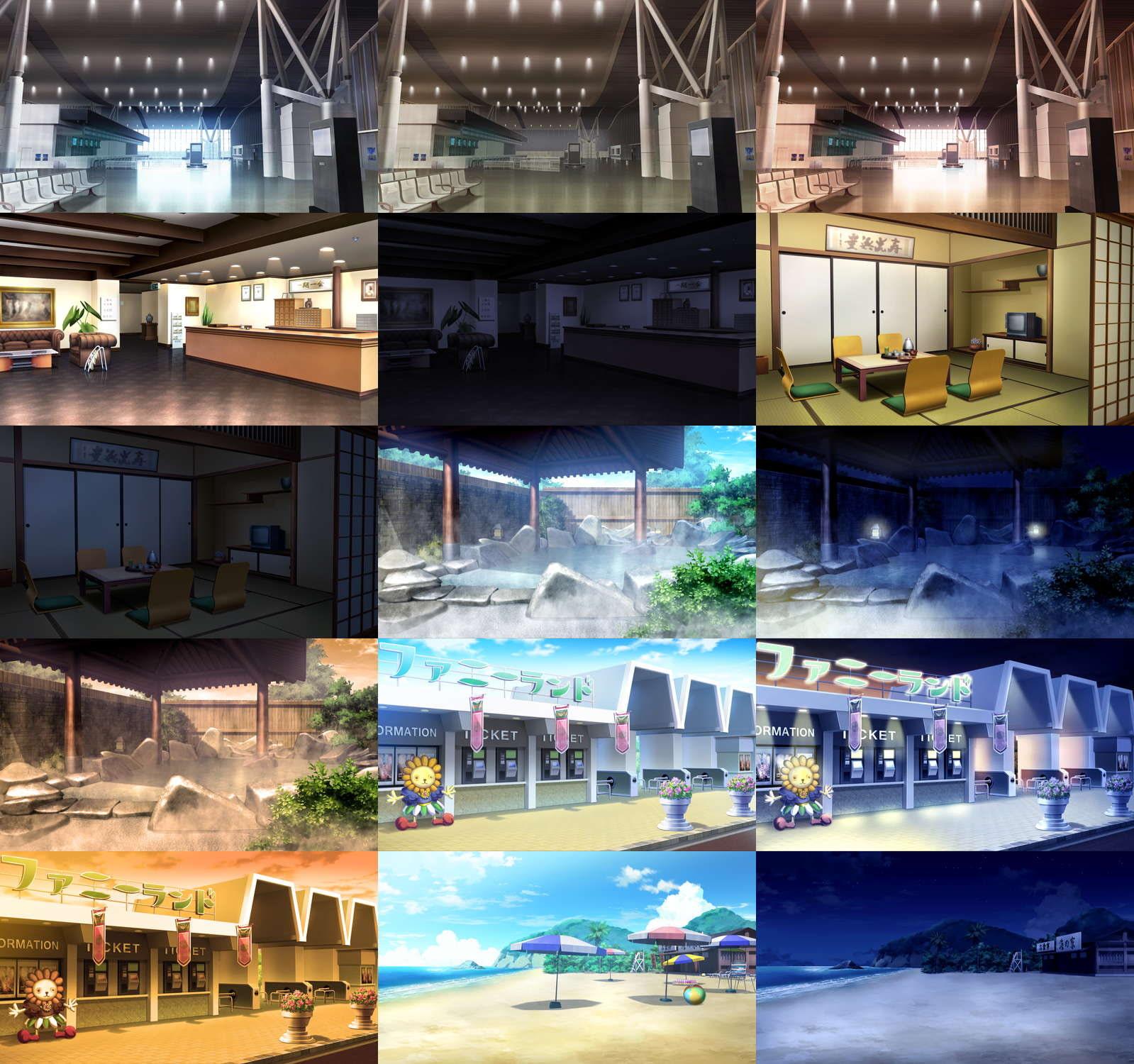 みにくる背景CG素材集『レジャー・公共施設編』part01
