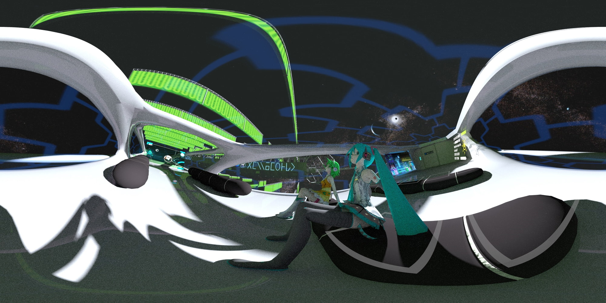 360°VR3DMV ~Interplanetary Flight~ ボカロトランスVRで異世界体験