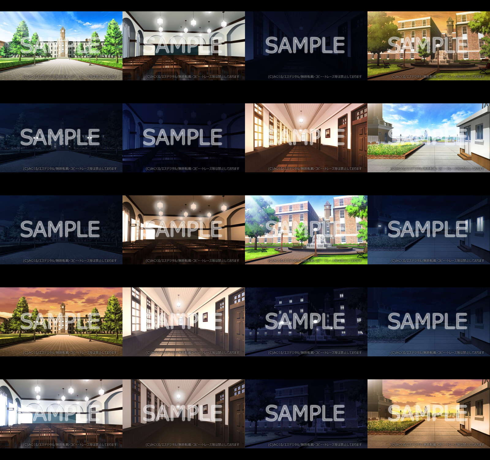 "Minikle's Background CG Material Collection ""School"" part09 [minikle]"