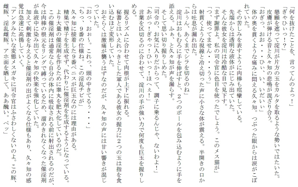 DLsite専売ふたなり変態狂乱~女司令官が消えた理由~