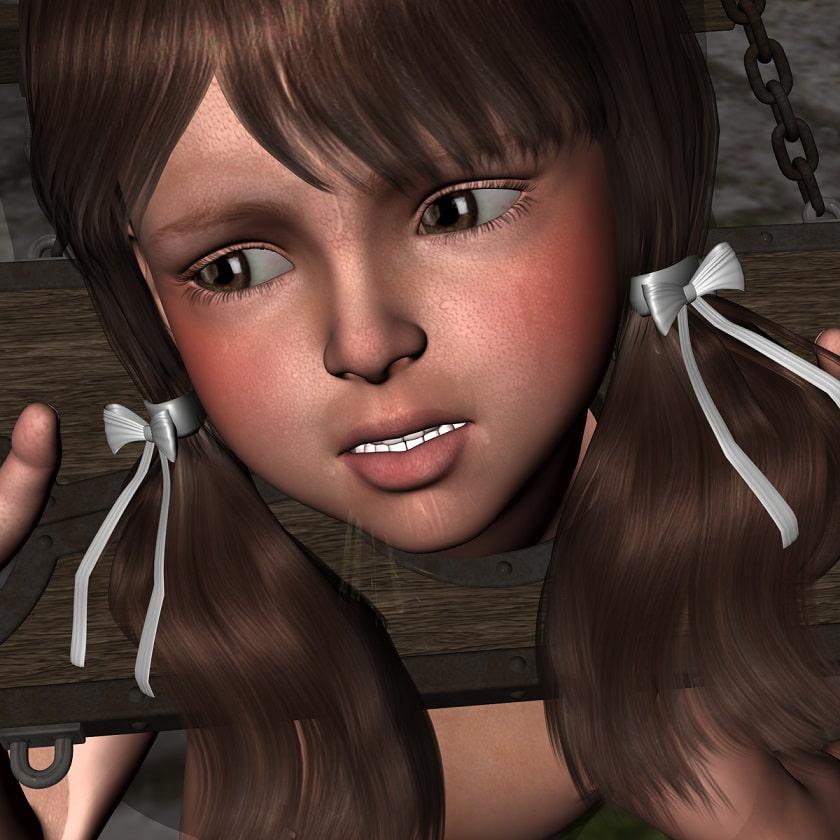 おしおき&調教されるロ○ータ姫