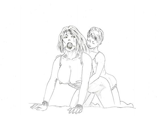 未亡人と息子・縄化粧
