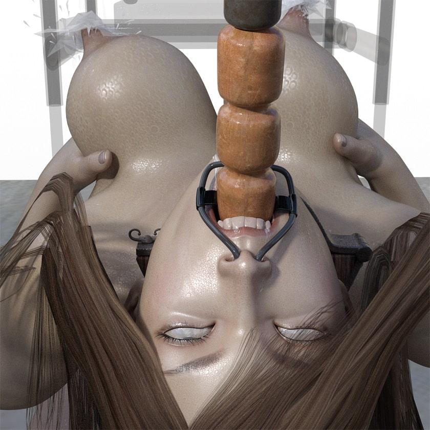 ムチムチ制服ブルマ美女の搾り出し母乳浣腸