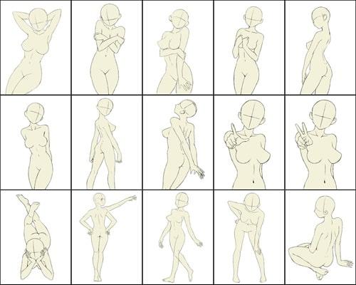 ポーズ集(女性モデル)