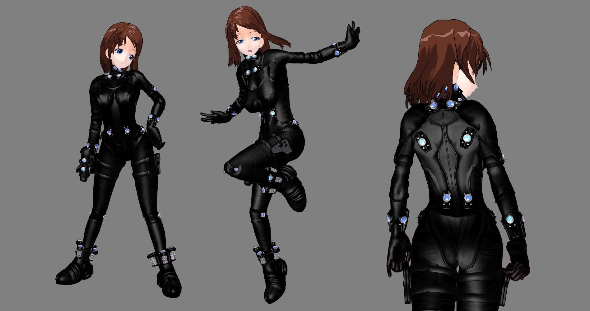 3D Latex Bondage 3d custom outfitters - g*ntz - body suit [metalogic