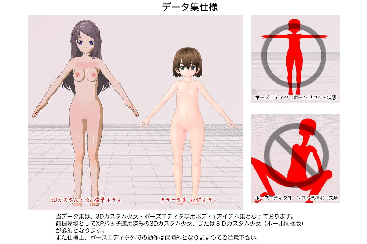 DLsite専売3Dカスタム少女データ集 王立冒険者アカデミー スターターパック