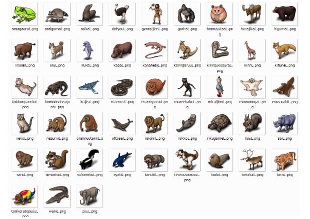 RPG用ザコ敵(哺乳類他)48種類セット