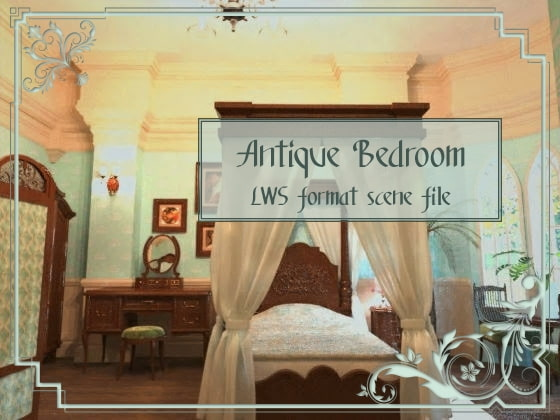 [3D Materials] Bedroom 3D Materials Bedroom [Butterfly Dream DLsite.com Males(G-rated) RE194232 contents dawnload order