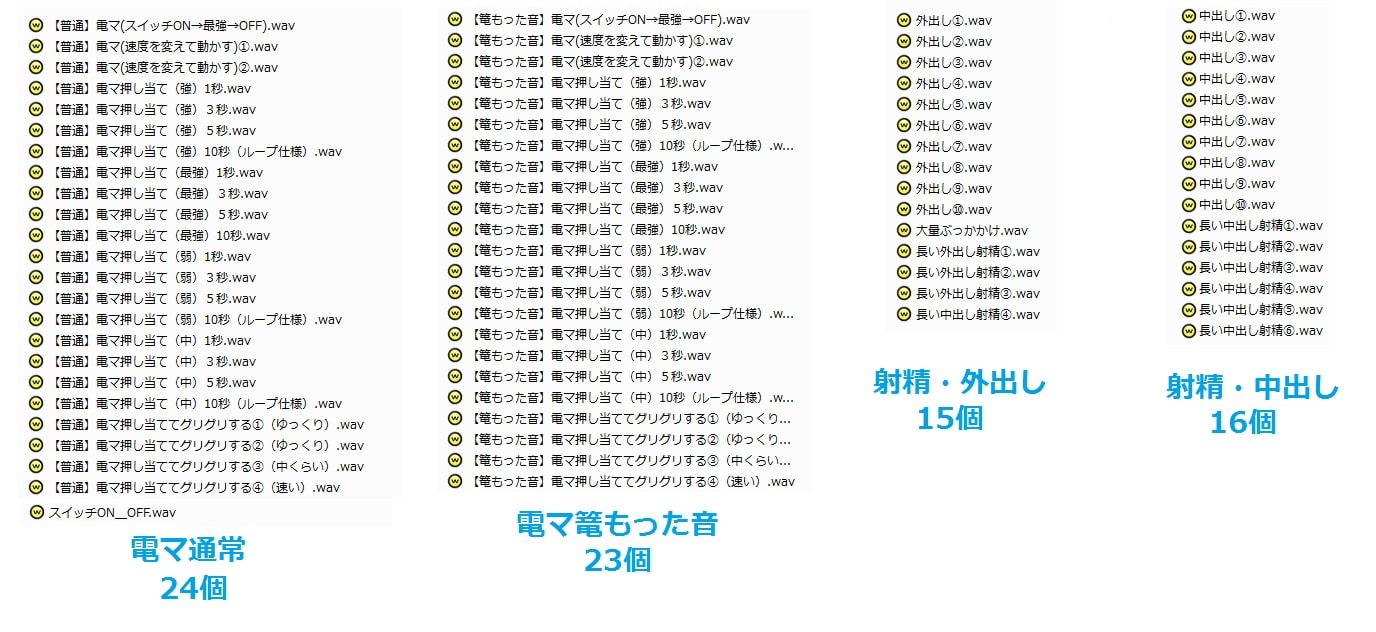 著作権フリー効果音・BGM集 vol.34 電マ・射精音・ピストン・その他効果音162個+BGM10曲+ジングル10個パック