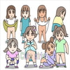GIFパラパラまんが かわいい女の子たち 2