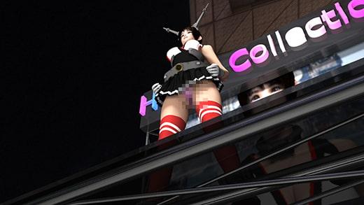ゲームショウの1セッションで「編隊これくしょん」の陸奥(りくおく)のコスプレ女子として登場した激ミニちゃん。