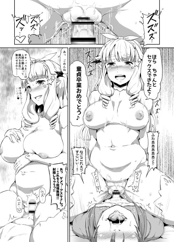 お姉様なサキュバスと女装サンタちゃん(+オマケ)