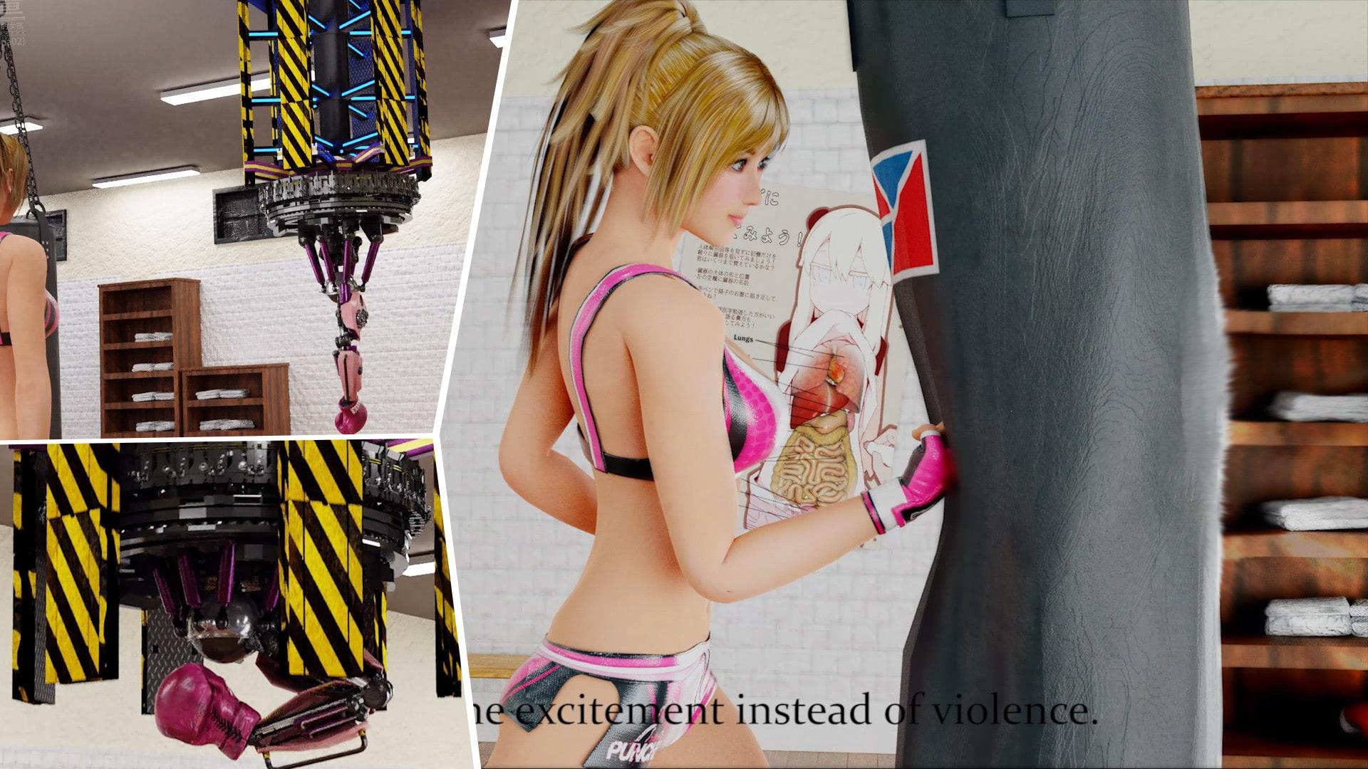 【3dcg動画】VOL.0----序章:腹パンチフェチの少女