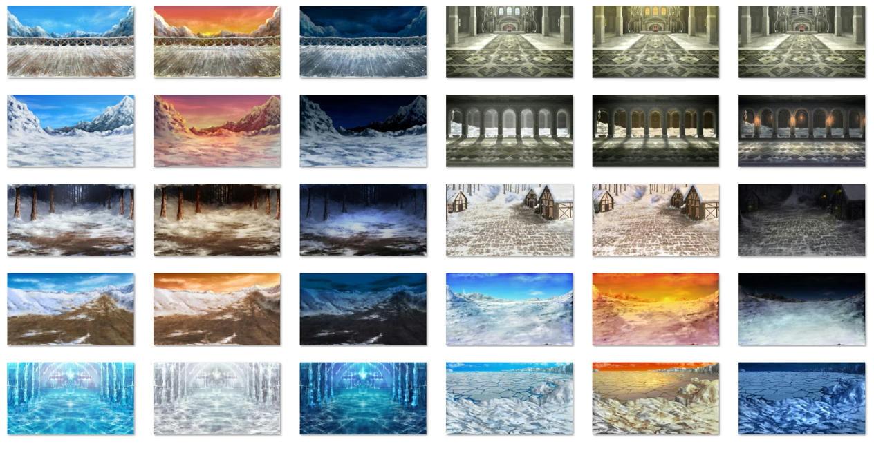 雪の戦闘背景 サファイアソフト素材 Vol1