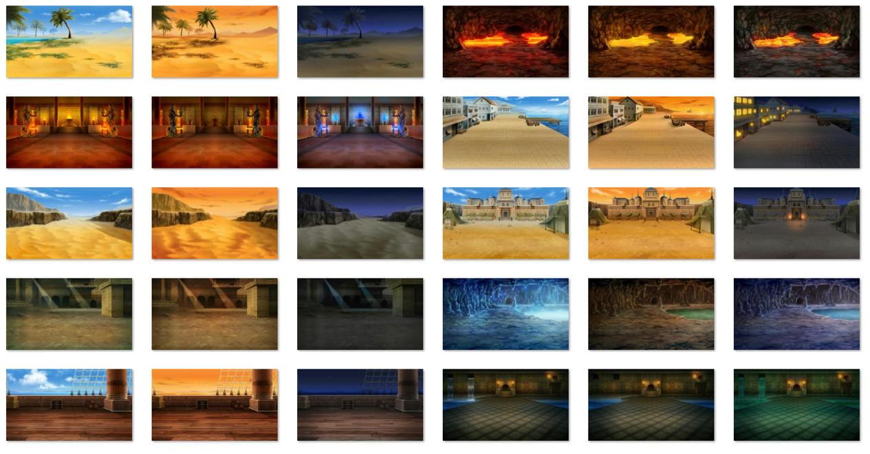 砂漠の戦闘背景 サファイアソフト素材 Vol2