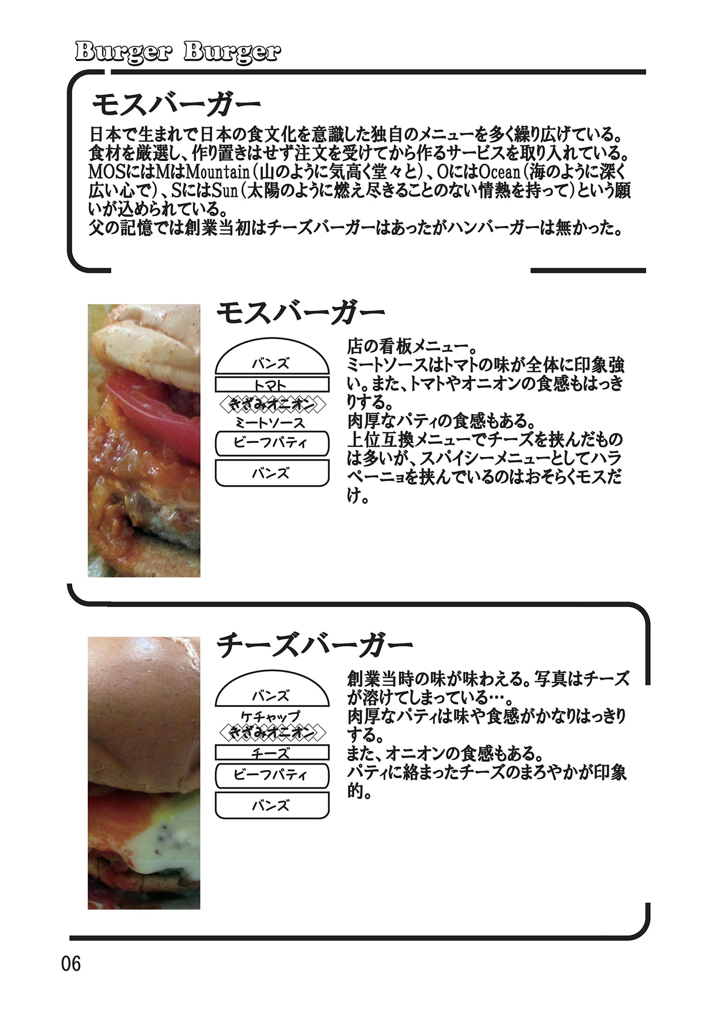 Burger Burger -都内主要ハンバーガーチェーン比較本-