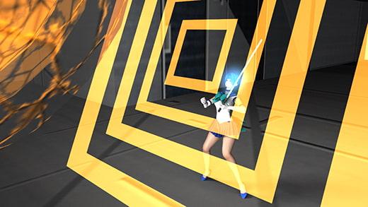 美少女ファイターセーラーアースとして戦う激ミニちゃん。