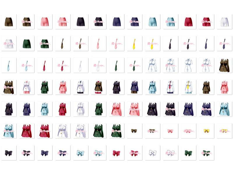 佐野俊英があなたの専用原画マンになります 衣装素材集B - ブレザー -