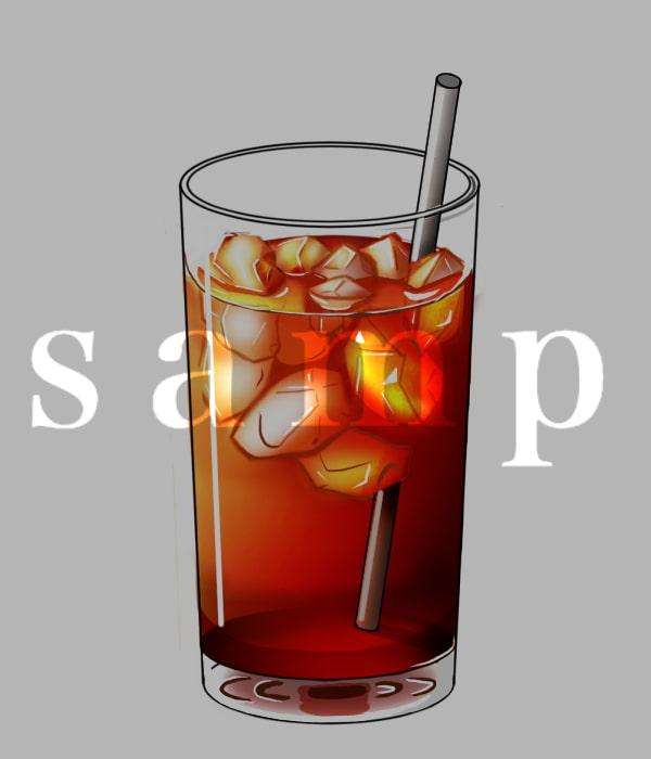【モノクロ】飲み物イラスト素材【カラー】
