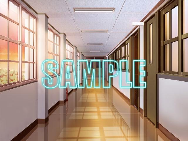背景素材:学校廊下1