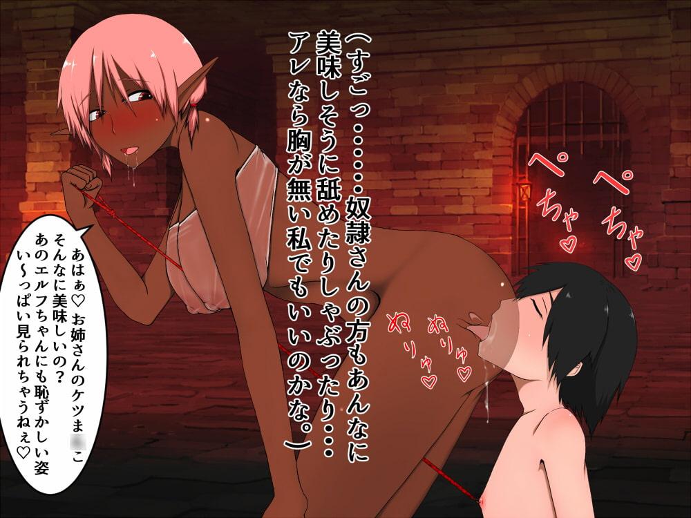 エルフの少女はサキュバスさんから男の子奴隷を買いたい!(アナル編)