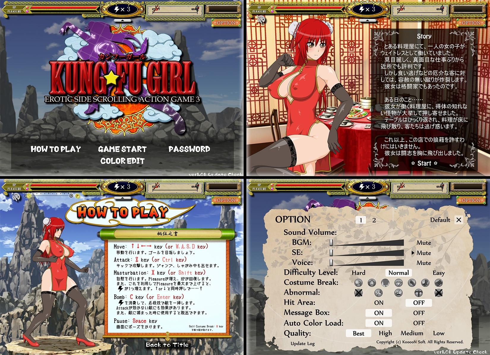 KUNG-FU GIRL -EROTIC SIDE SCROLLING ACTION GAME 3- [KooooN Soft]