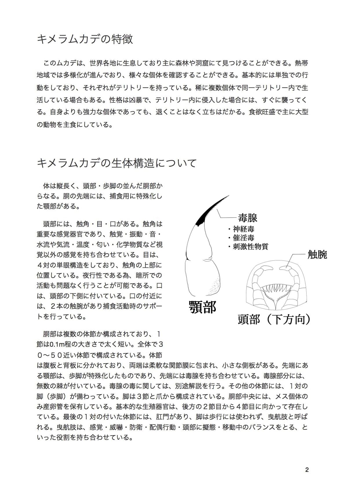 キメラムカデ研究レポート