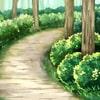 「森の背景 一本道・昼」     USAGI STORE