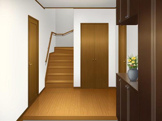 RJ280420 [20200307]フリー背景素材 住宅 玄関