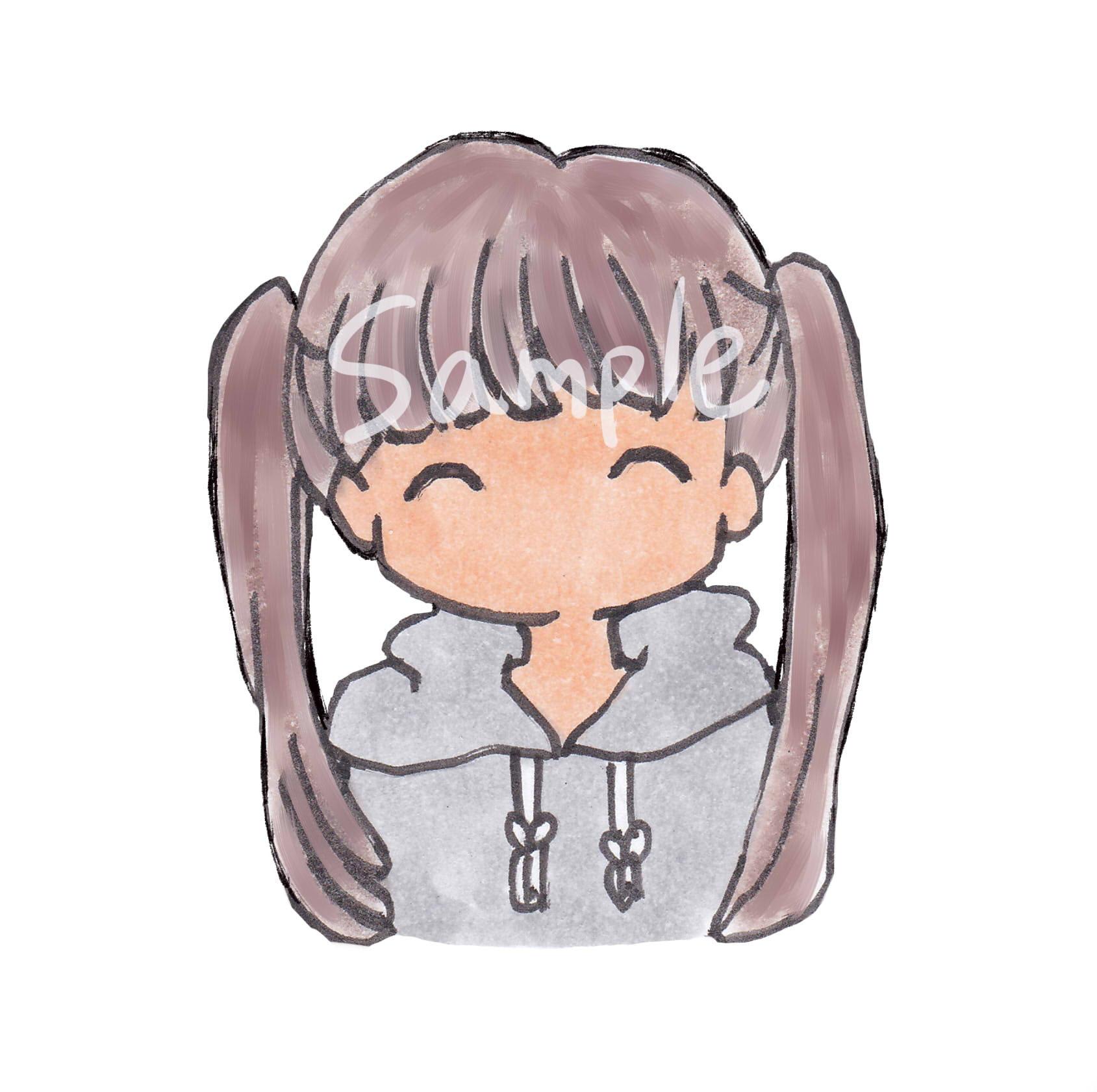 【商用OK】ツインテール女の子イラスト/表情6つ