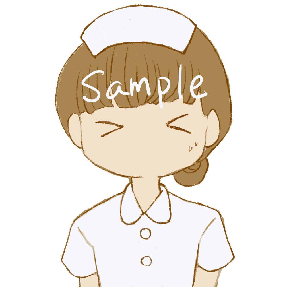 【商用利用OK】看護師女の子イラスト/表情6つ