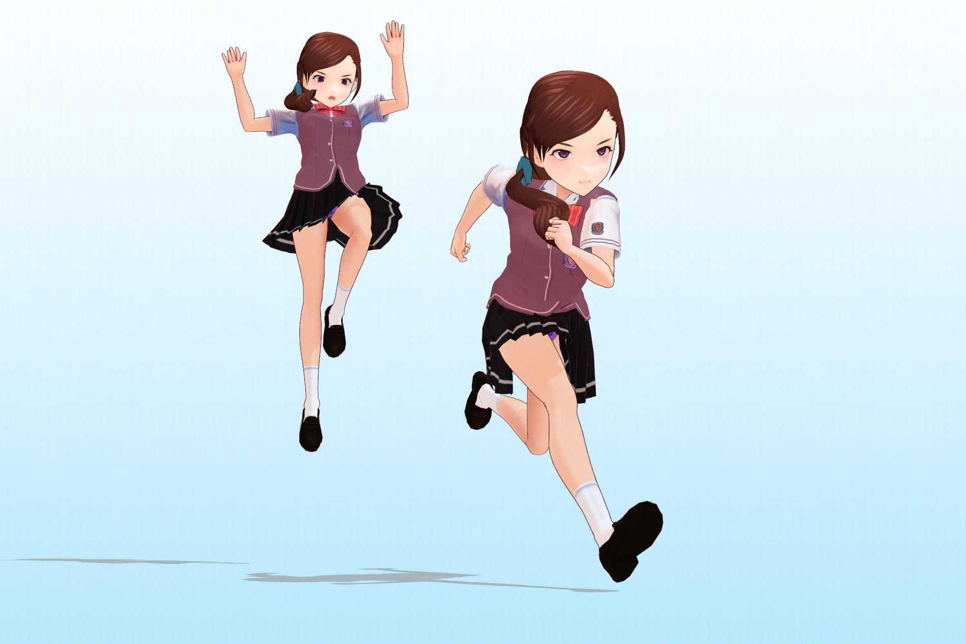 私立あかね高等学校 ○年3組 出席番号15番 白峰 恋 夏服3Dモデルデータ